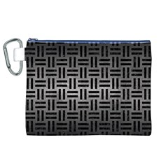 Woven1 Black Marble & Gray Metal 1 (r) Canvas Cosmetic Bag (xl) by trendistuff