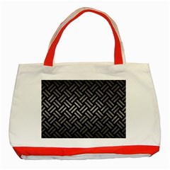 Woven2 Black Marble & Gray Metal 1 Classic Tote Bag (red) by trendistuff