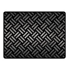 Woven2 Black Marble & Gray Metal 1 Fleece Blanket (small) by trendistuff