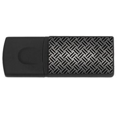 Woven2 Black Marble & Gray Metal 1 (r) Rectangular Usb Flash Drive by trendistuff