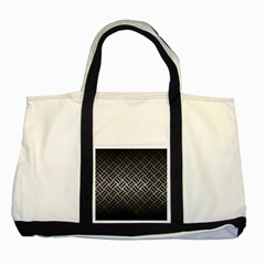 Woven2 Black Marble & Gray Metal 1 (r) Two Tone Tote Bag by trendistuff
