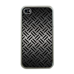 Woven2 Black Marble & Gray Metal 1 (r) Apple Iphone 4 Case (clear) by trendistuff