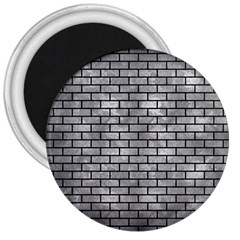 Brick1 Black Marble & Gray Metal 2 (r) 3  Magnets by trendistuff