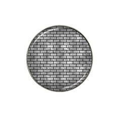 Brick1 Black Marble & Gray Metal 2 (r) Hat Clip Ball Marker (10 Pack) by trendistuff