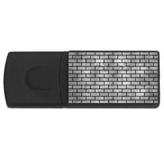 Brick1 Black Marble & Gray Metal 2 (r) Rectangular Usb Flash Drive by trendistuff