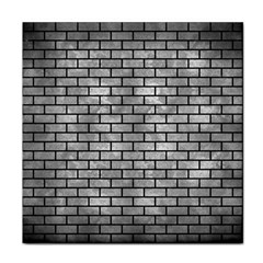 Brick1 Black Marble & Gray Metal 2 (r) Face Towel by trendistuff