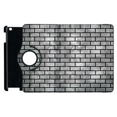 Brick1 Black Marble & Gray Metal 2 (r) Apple Ipad 2 Flip 360 Case by trendistuff