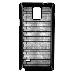 Brick1 Black Marble & Gray Metal 2 (r) Samsung Galaxy Note 4 Case (black) by trendistuff