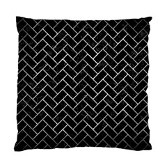 Brick2 Black Marble & Gray Metal 2 Standard Cushion Case (two Sides) by trendistuff