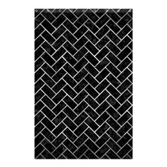 Brick2 Black Marble & Gray Metal 2 Shower Curtain 48  X 72  (small)  by trendistuff