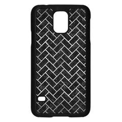 Brick2 Black Marble & Gray Metal 2 Samsung Galaxy S5 Case (black) by trendistuff