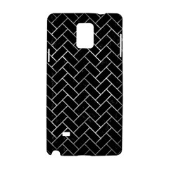 Brick2 Black Marble & Gray Metal 2 Samsung Galaxy Note 4 Hardshell Case by trendistuff