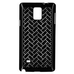 Brick2 Black Marble & Gray Metal 2 Samsung Galaxy Note 4 Case (black) by trendistuff