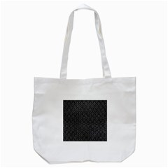 Hexagon1 Black Marble & Gray Leather Tote Bag (white) by trendistuff