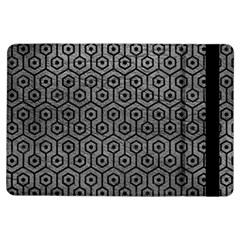 Hexagon1 Black Marble & Gray Leather (r) Ipad Air Flip by trendistuff