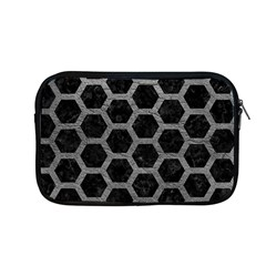Hexagon2 Black Marble & Gray Leather Apple Macbook Pro 13  Zipper Case by trendistuff