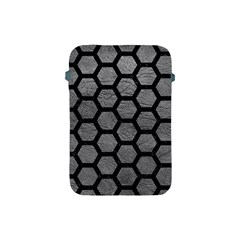 Hexagon2 Black Marble & Gray Leather (r) Apple Ipad Mini Protective Soft Cases by trendistuff