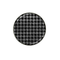 Houndstooth1 Black Marble & Gray Leather Hat Clip Ball Marker (10 Pack) by trendistuff