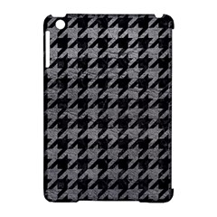 Houndstooth1 Black Marble & Gray Leather Apple Ipad Mini Hardshell Case (compatible With Smart Cover) by trendistuff