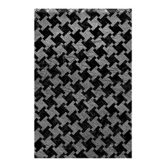 Houndstooth2 Black Marble & Gray Leather Shower Curtain 48  X 72  (small)  by trendistuff