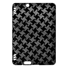 Houndstooth2 Black Marble & Gray Leather Kindle Fire Hdx Hardshell Case by trendistuff