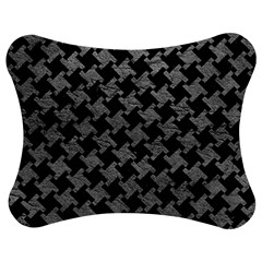 Houndstooth2 Black Marble & Gray Leather Jigsaw Puzzle Photo Stand (bow) by trendistuff