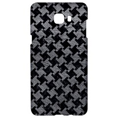 Houndstooth2 Black Marble & Gray Leather Samsung C9 Pro Hardshell Case  by trendistuff