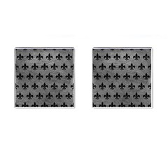 Royal1 Black Marble & Gray Leather Cufflinks (square) by trendistuff