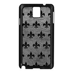 Royal1 Black Marble & Gray Leather Samsung Galaxy Note 3 N9005 Case (black) by trendistuff