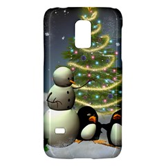 Funny Snowman With Penguin And Christmas Tree Galaxy S5 Mini by FantasyWorld7