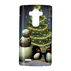 Funny Snowman With Penguin And Christmas Tree Lg G4 Hardshell Case by FantasyWorld7