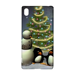 Funny Snowman With Penguin And Christmas Tree Sony Xperia Z3+ by FantasyWorld7