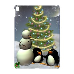 Funny Snowman With Penguin And Christmas Tree Apple Ipad Pro 10 5   Hardshell Case by FantasyWorld7