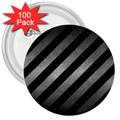 Stripes3 Black Marble & Gray Metal 1 3  Buttons (100 Pack)  by trendistuff
