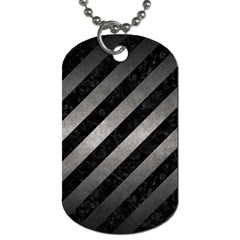 Stripes3 Black Marble & Gray Metal 1 Dog Tag (one Side) by trendistuff