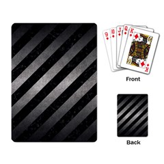 Stripes3 Black Marble & Gray Metal 1 Playing Card by trendistuff