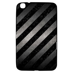 Stripes3 Black Marble & Gray Metal 1 Samsung Galaxy Tab 3 (8 ) T3100 Hardshell Case  by trendistuff