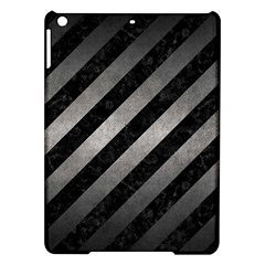 Stripes3 Black Marble & Gray Metal 1 Ipad Air Hardshell Cases by trendistuff