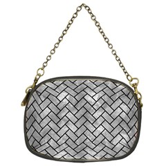 Brick2 Black Marble & Gray Metal 2 (r) Chain Purses (two Sides)  by trendistuff