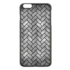 Brick2 Black Marble & Gray Metal 2 (r) Apple Iphone 6 Plus/6s Plus Black Enamel Case by trendistuff