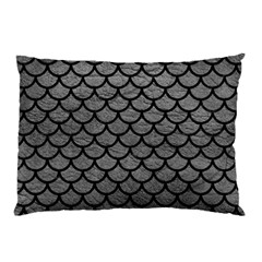 Scales1 Black Marble & Gray Leather (r) Pillow Case by trendistuff
