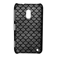 Scales1 Black Marble & Gray Leather (r) Nokia Lumia 620 by trendistuff