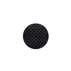 Scales2 Black Marble & Gray Leather 1  Mini Buttons by trendistuff