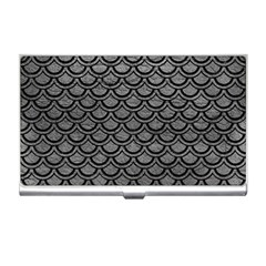 Scales2 Black Marble & Gray Leather (r) Business Card Holders by trendistuff