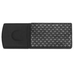 Scales2 Black Marble & Gray Leather (r) Rectangular Usb Flash Drive by trendistuff
