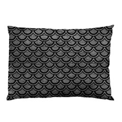 Scales2 Black Marble & Gray Leather (r) Pillow Case by trendistuff
