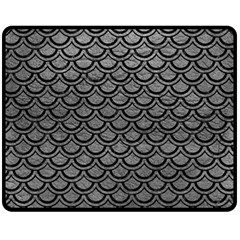 Scales2 Black Marble & Gray Leather (r) Fleece Blanket (medium)  by trendistuff