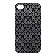 Scales2 Black Marble & Gray Leather (r) Apple Iphone 4/4s Premium Hardshell Case