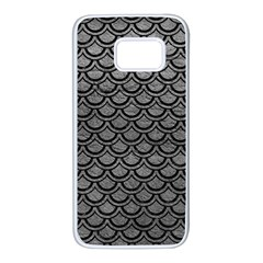 Scales2 Black Marble & Gray Leather (r) Samsung Galaxy S7 White Seamless Case by trendistuff