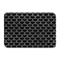Scales3 Black Marble & Gray Leather Plate Mats by trendistuff